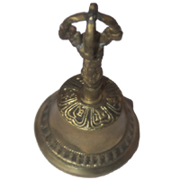 Tibetan Bell with Ritual Script etching