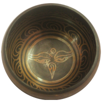 Buddha Eye Etching Singing Bowl