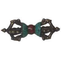 Vajra or Dorje with Turquoise