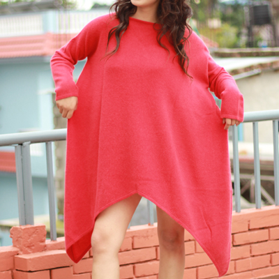 Ladies Cashmere Long Sweater Dress