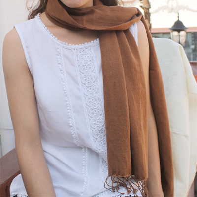 Pashmina and Silk Blend Scarf