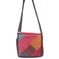 Cotton shoulder bags in small size