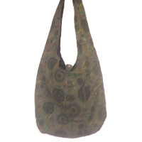 Cotton shoulder bags with printed design