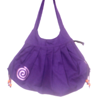 Cotton shoulder bags with design