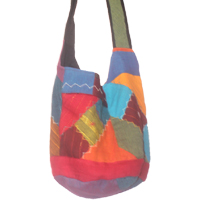 Cotton shoulder bags in large size