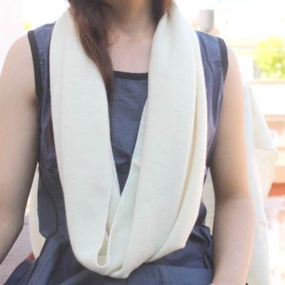 Womens Hand Knit Infinity Scarf