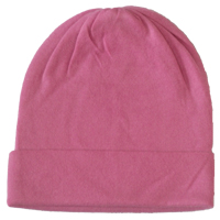 Hot pink colour cashmere pashmina hat