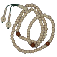 White sandal wood long mala