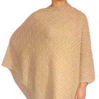 Slash Neck Cashmere Cable Knit Poncho