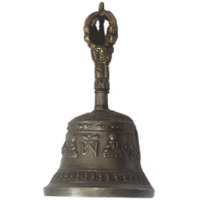 Bell with Tibetan Buddhist Symbol etching