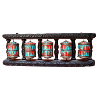 Five unit tibetan mantra prayer wheel