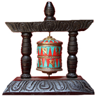 Mantra tibetan prayer wheel