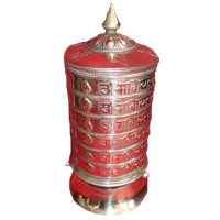 Six line tibetan mantra prayer wheel