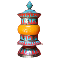 Stupa design tibetan prayer wheel