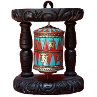 Tibetan letter prayer wheel