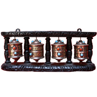 Four set tibetan prayer wheel