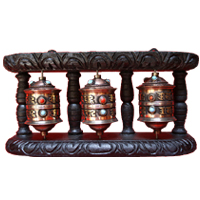 Three set tibetan prayer wheel