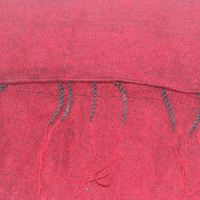 Red Colour yak wool scarf